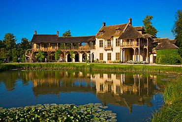 Petit hameau, hamlet of Marie Antoinette in a part of the Versailles Park, Versailles, Yvelines, ile-de-France, France