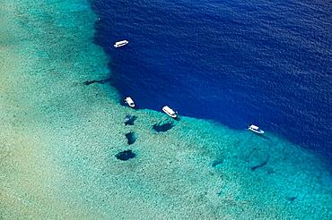 Aerial View of Divespot Blue Hole, Micronesia, Palau