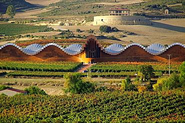 Elciego (alava), Espana, Panoramica de las Bodegas Ysios