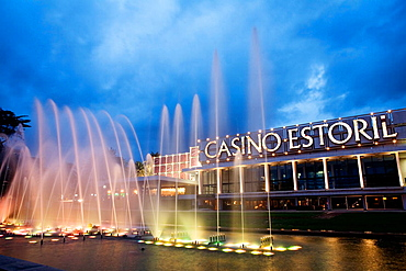 Casino Estoril at sunset, Portugal.