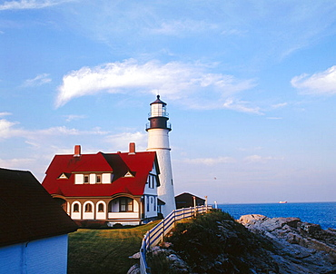 Portland Head Light lighthouse, South Portland, Maine, USA.