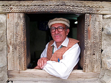 Portrait of the caretaker of the Baltit Fort in the Hunza Valley of Pakistan