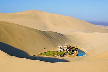 The Moon Lake, Dunhuang City, Gobi Desert, Gansu Province, The Silk Road, China, Nov, 2006
