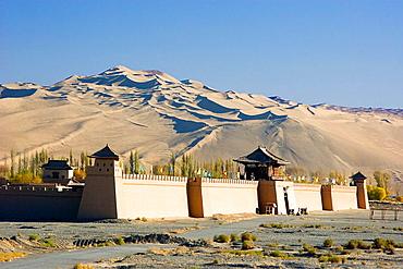 Dunhuang City, Gobi Desert, Gansu Province, The Silk Road, China, Nov, 2006