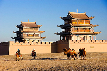 Jiayuguan City, Jiayu Pass Fort (W.H.), Gobi Desert, Gansu Province, The Silk Road, China, Nov, 2006