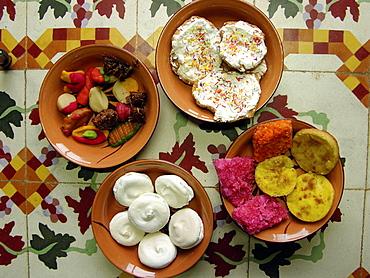 Campeche typical sweets for Dia de los Muertos, Mexico