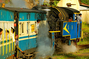 Nilgiri Mountain Railway pulled by it's steam engine 'Nilgiri Queen' on it's descent from Coonoor to Mettupalayam