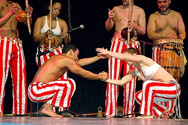 Dancing 'capoeira', Brazil