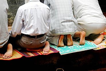 Panjim Goa, India, Muslims praying during the Jashn-Eid-Milad Un Nabi feast, to commemorate prophet Mohammed's birth