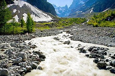 River home in Glacier National Park Les Ecrins, Los Alpes, Briancon, France