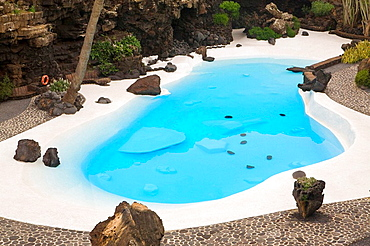 Tourist attraction of Jameos Water, disegned by Cesar Manrique  Jameos del Agua  Volcanic tube of Corona Volcano in Haria  Lanzarote  Las Palmas province  Canary Islands  Spain