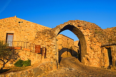 Door of the walls in the Historic Village of Castelo Rodrigo, in Beira Alta of Guarda District  Portugal