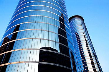 Houston mirror skyscrappers, Texas, USA
