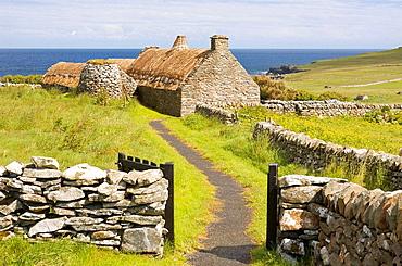 Crofting museum, Mainland, Shetland, Scotland, UK