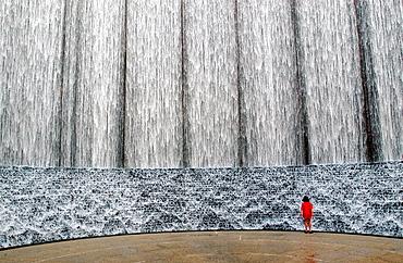 Water wall, Houston, Texas, USA