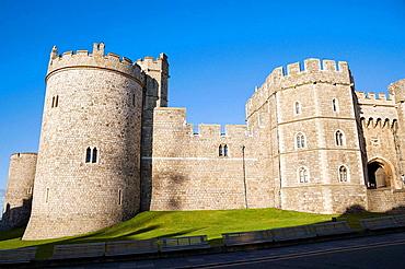 Salisbury Tower and Henry VIII Gateway of Windsor Castle, Windsor, Berkshire, England, UK