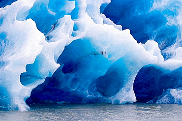 Detail of the ice of the massive glacier Grey, Torres del Paine, Chile