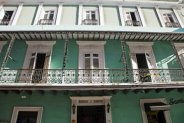 Usa, Caribbean, Puerto Rico, San Juan, Old Town, Colonial Architecture
