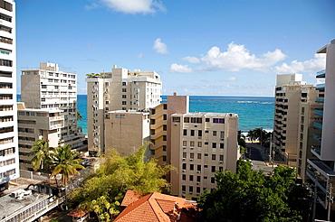 Usa, Caribbean, Puerto Rico, San Juan, Old Town, Condado Resort Area