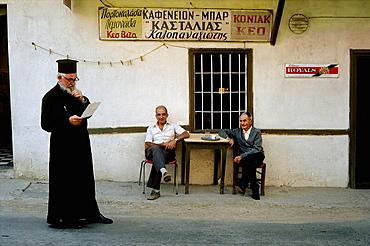 Orthodox priest, Kalopanayiotis, Troodos mountains, Cyprus