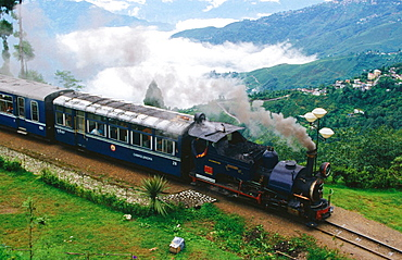 1889 steam engine toy train in Darjeeling , West Bengal, India