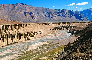 Leh Route on Manali, Ladakh, India.