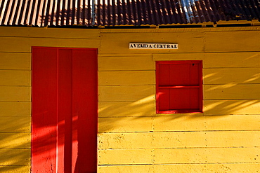 A brightly colored building in the town of San Juan del Sur, Nicaragua