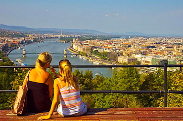People on top of Gellert Hill in central Budapest Hungary EU