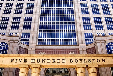 Post-Modern building 500 Boylston Street, Back Bay section, Boston, Massachusetts, USA