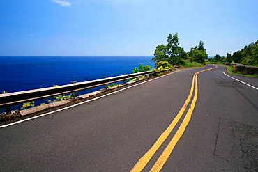 Maui, Hawaii - The road to Hana  This road is infamous for its hundreds of sharp curves and dozens of one-lane bridges  Tourists frequent the road on a full day roundtrip from central Maui in order to claim they survived the Road to Hana