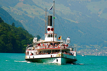 Uri' paddle steamer, Lake Lucerne, Switzerland