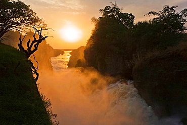 The Murchison Falls of the river nile in Uganda during sunset  Africa, East AFrica, Uganda, January 2008