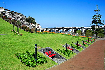 Park in the city of Ribeira Grande  Sao Miguel island, Azores islands, Portugal