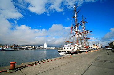 The Prince William, one of the ships of Tall Ships Youth Trust, docked in Ponta Delgada, Azores islands