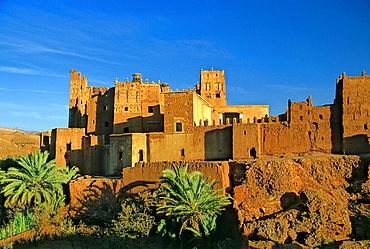 Morocco, Near Quarzazate, Glaoui Kasbah at Tamdaght