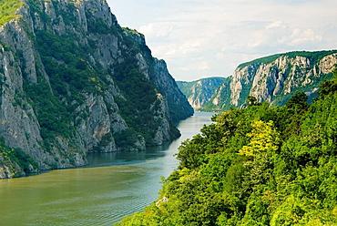 Danube river at Iron Gate gorge, Serbia