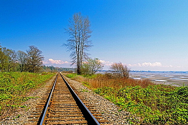 Railway tracks, Whiterock, British Columbia, Canada
