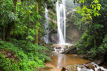 Mork-Fa Waterfall, Doi Suthep-pui National Park, Chiang Mai Province, Thailand, Asia