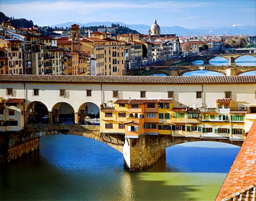 Arno river and Ponte Vecchio.Florence, Tuscany, Italy
