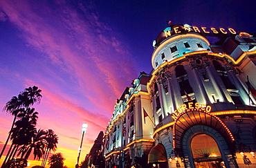 Negresco hotel on the Promenade des Anglais, Nice, Alpes Maritimes, France