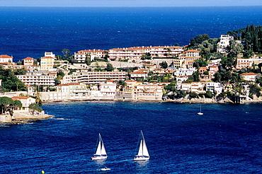Ferrat Cape and Villefranche-sur-Mer bay, Alpes Maritimes, France