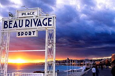 NIce Promenade des Anglais ALpes-MAritimes 06 PACA French Riviera Cote dAzur France Europe