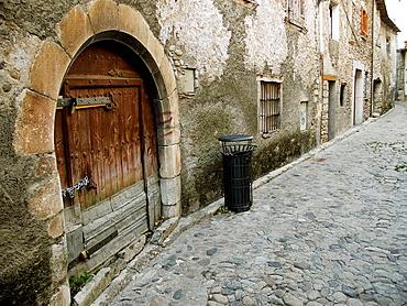 Detalle de calle en Benasque _ Huesca _ Pirineo Aragones