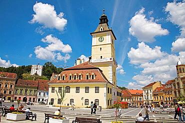 Old Town Hall now History Museum, Piata Sfatului, main town square, Brasov, Transylvania, Romania