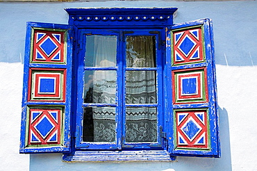 Window of building, Muzeul National al Satului Dimitrie Gusti, Ethnographic Village Museum, Bucharest, Romania