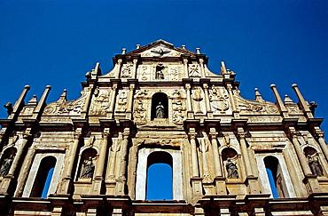 Baroque facade, Saint Pauls Church, Macau, China