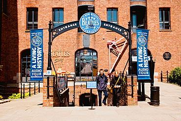 Albert Dock, Beatles Story Museum, entrance, Liverpool, England, UK
