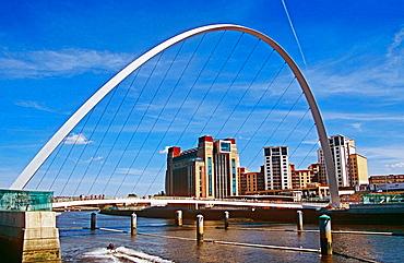Gateshead Millennium Bridge, Gateshead, near Newcastle Upon Tyne, Tyne and Wear, England