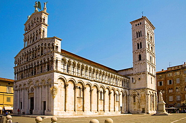 San Michele in Foro Church, Piazza San Michele, Lucca, Tuscany, Italy