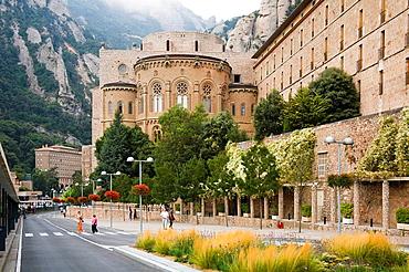 Montserrat Basilica and Monastery, Montserrat, near Barcelona, Spain